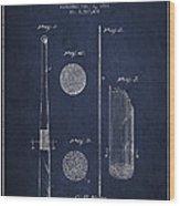 Baseball Bat Patent Drawing From 1921 Wood Print
