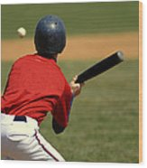 Baseball Batter Wood Print