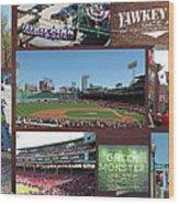 Baseball Collage Wood Print
