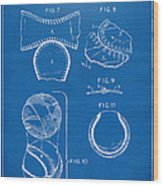 Baseball Construction Patent 2 - Blueprint Wood Print