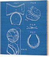 Baseball Construction Patent 2 - Blueprint Wood Print