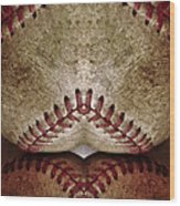 Baseball Eros Wood Print
