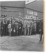Baseball Fans Waiting In Line To Buy World Series Tickets. Wood Print