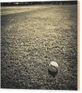 Baseball Field 3 Wood Print