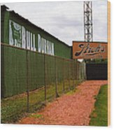 Baseball Field Bull Durham Sign Wood Print