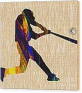 Baseball Game Art Wood Print