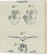 Baseball Glove 1907 Patent Art Wood Print by Prior Art Design