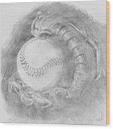 Baseball Glove Wood Print