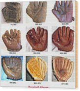 Baseball Glove Evolution Wood Print