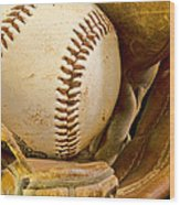 Baseball Has Been Very Good To Me Wood Print by Don Schwartz
