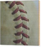 Baseball Macro 2 Wood Print