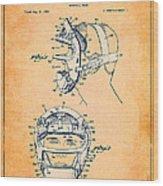 Baseball Mask Patent Orange Us2627602 A Wood Print