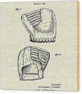 Baseball Mitt 1945 Patent Art Wood Print by Prior Art Design