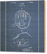 Baseball Mitt By Archibald J. Turner - Vintage Patent Blueprint Wood Print