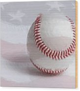 Baseball - Painterly Wood Print by Heidi Smith