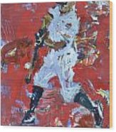 Baseball Painting Wood Print
