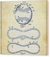 Baseball Patent Vintage Us1668969 Wood Print