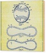 Baseball Patent Yellow Us1668969 Wood Print
