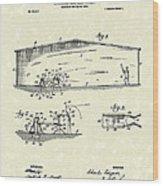 Baseball Pitcher 1902 Patent Art Wood Print