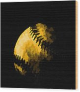 Baseball The American Pastime Wood Print