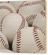 Baseballs II Wood Print by Ricky Barnard
