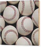 Baseballs Wood Print by Ricky Barnard
