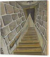 Basement Stairs Wood Print
