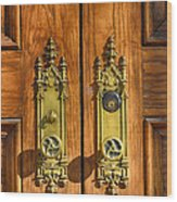 Basilica Door Knobs Wood Print