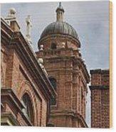 Basilica Of Saint Lawrence Steeple Wood Print