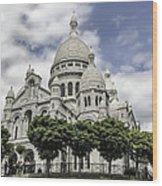 Basilica Of The Sacred Heart Paris France Wood Print