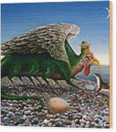 Basilisk, 1986 Oils And Tempera On Paper Wood Print