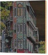 Basin Park Hotel Wood Print