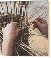 Basket Making Wood Print