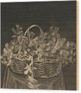 Basket of Flowers Wood Print