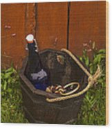Basket Of Goodies Wood Print