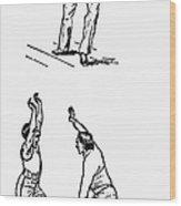 Basketball, 1893 Wood Print