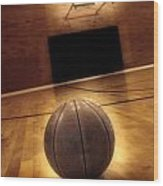 Basketball And Success Wood Print