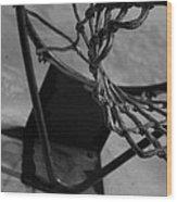 Basketball At Night Wood Print