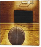 Basketball Court Competition Wood Print