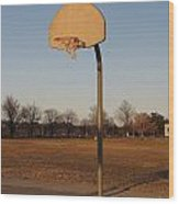 Basketball Goal At Sandy Point Wood Print