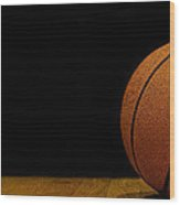 Basketball Panorama Wood Print
