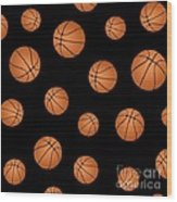 Basketball Pattern Wood Print