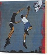 Basketball Players Wood Print