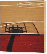 Basketball Shadows Wood Print