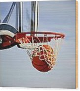 Basketball Shot Wood Print