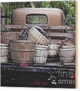 Baskets Of Feed Wood Print