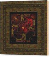 Basketweave Nine  Wood Print
