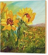 Basking In The Sun Wood Print by Barbara Pirkle