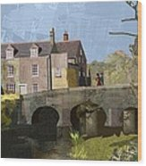 Baslow Bridge Wood Print by Kenneth North