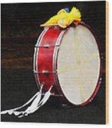 Bass Drum At Parade Wood Print